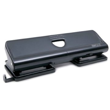 RAPESCO HOLE PUNCH 4-HOLE PUNCH 22 Sheet Capacity- Metal Construction Black 720